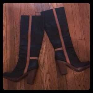 SALE: Seychelles Boots with Brown Stripe